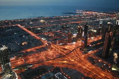 Sheik Zayed Road desde el Burj Khalifa