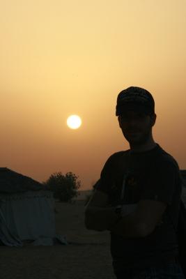 Atardecer en el desierto (Y mi broder)